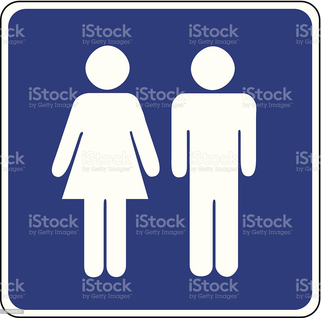 restroom vector vector art illustration