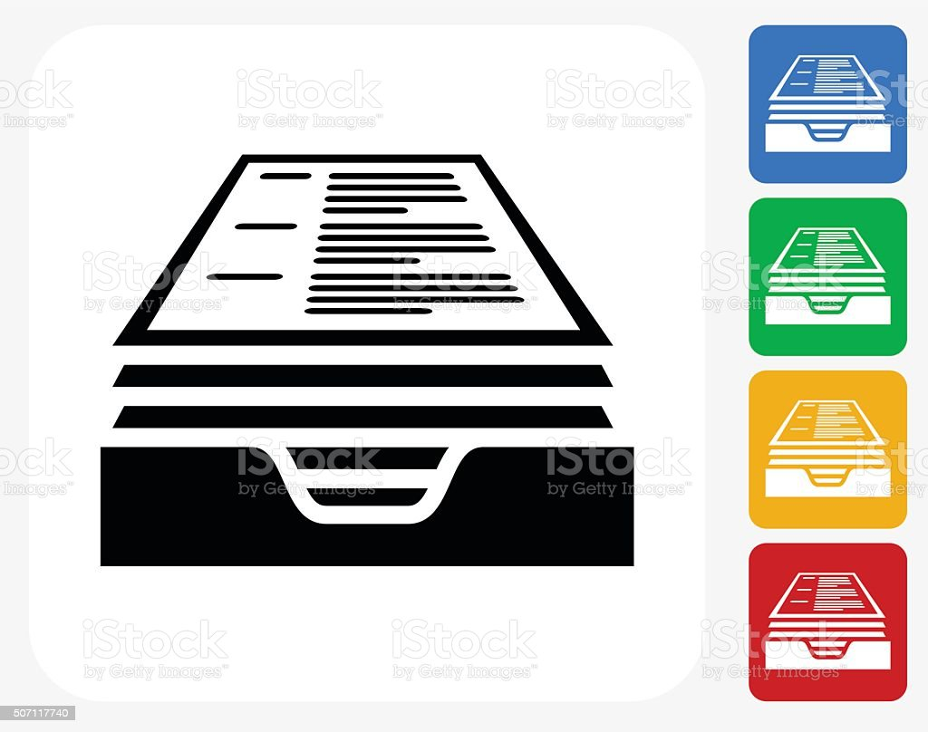 Resume Icon Flat Graphic Design vector art illustration