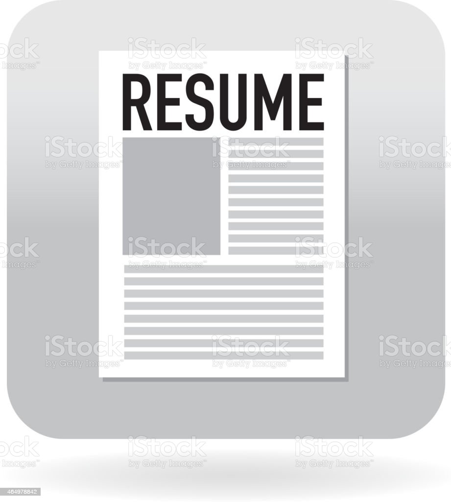 Resume icon vector art illustration