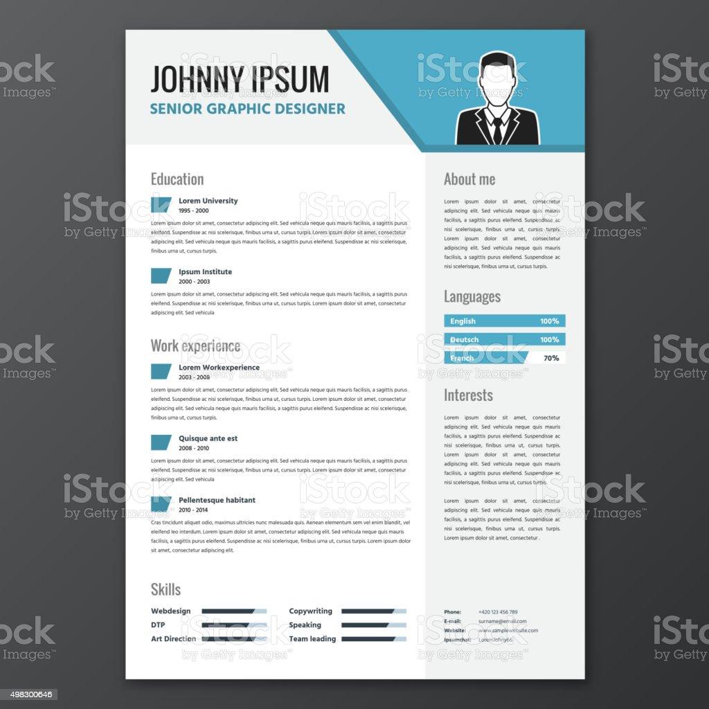 CV, resume template royalty-free stock vector art