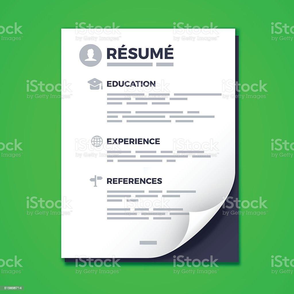 Resume vector art illustration