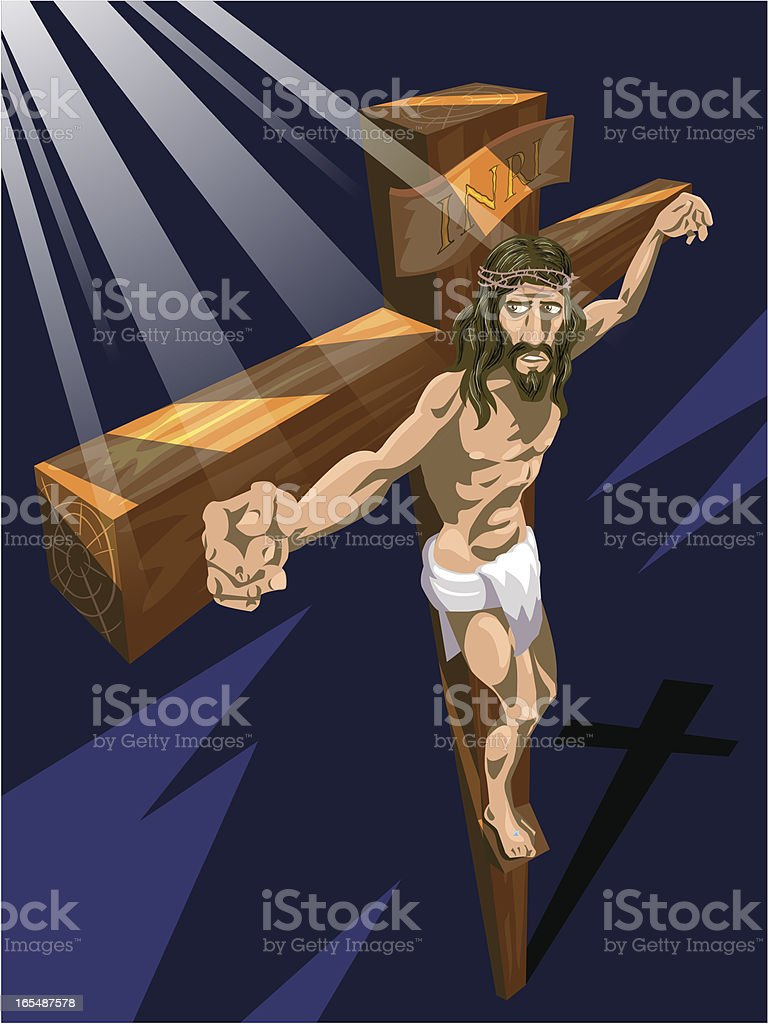 Resurrection of Jesus Christ royalty-free stock vector art