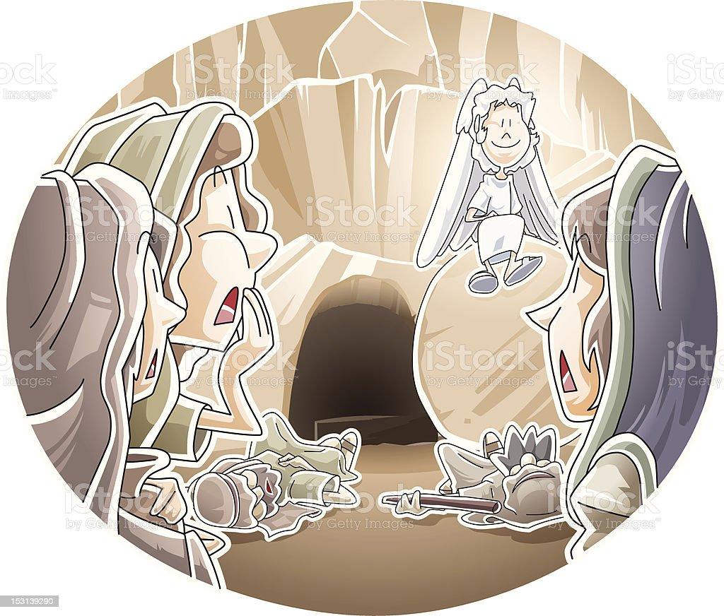 Resurrection of Jesus royalty-free stock vector art