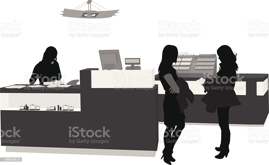Retail Cosmetics Vector Silhouette vector art illustration