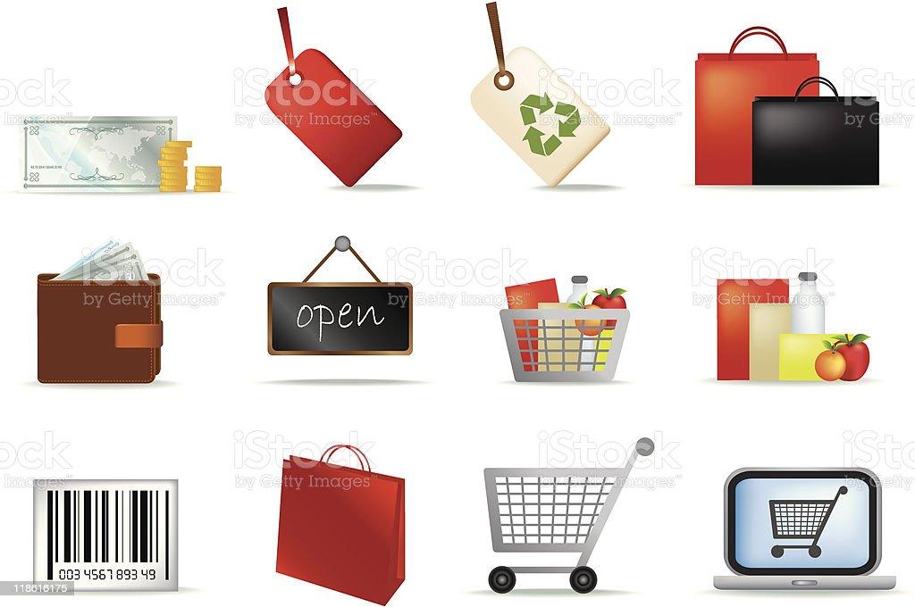 retail icon-set Lizenzfreies vektor illustration