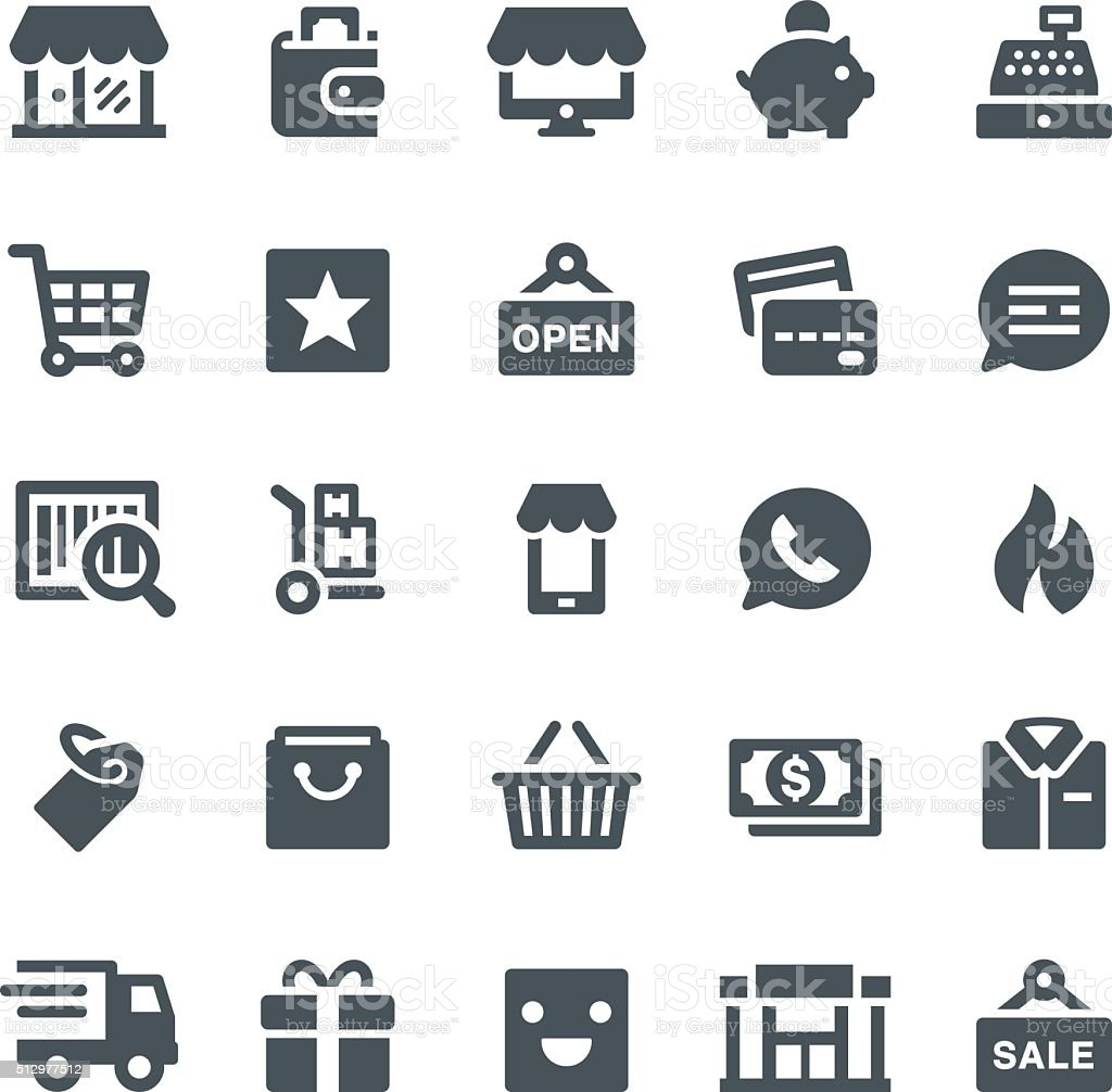 Retail Icons royalty-free stock vector art
