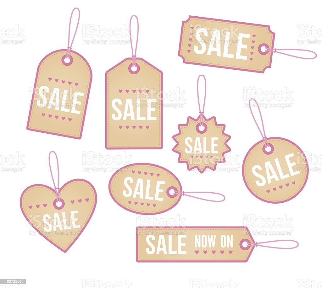 Retail price tags vector art illustration
