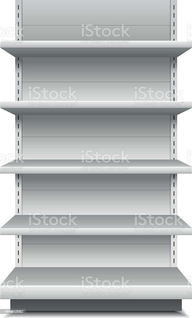 Retail Shelves vector art illustration