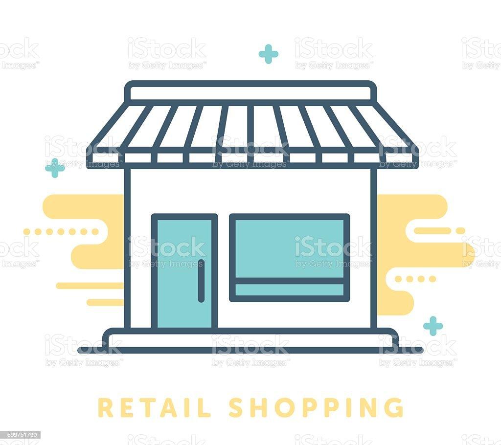 Retail Shop Symbol vector art illustration