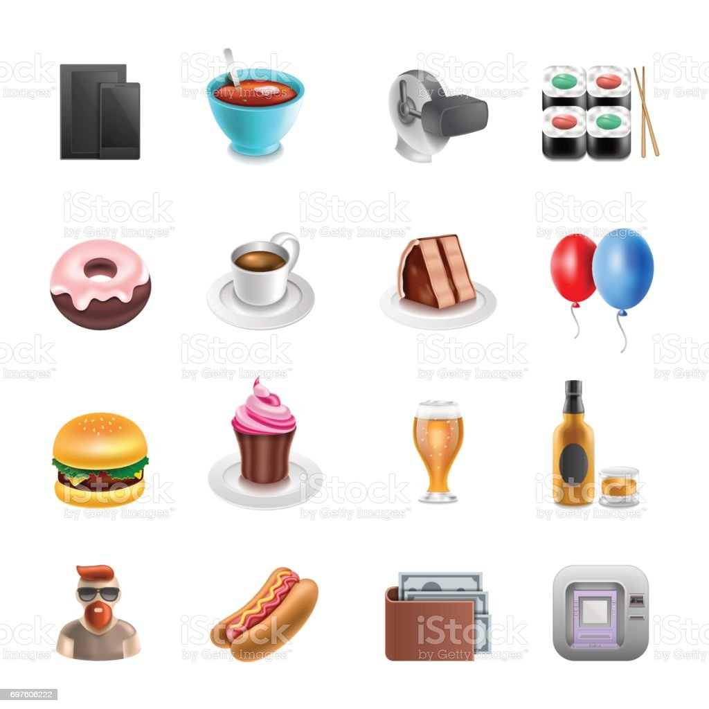 Retail Shoping Icons vector art illustration