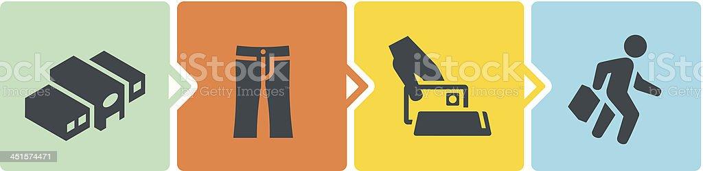 Retail Shopping Process royalty-free stock vector art