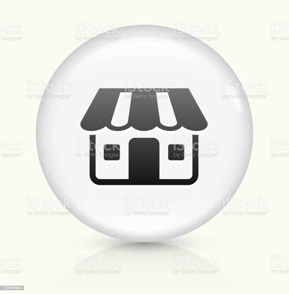 Retail Store icon on white round vector button vector art illustration