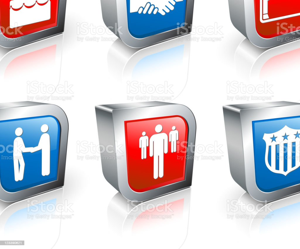retirement 3D royalty free vector icon set royalty-free stock vector art