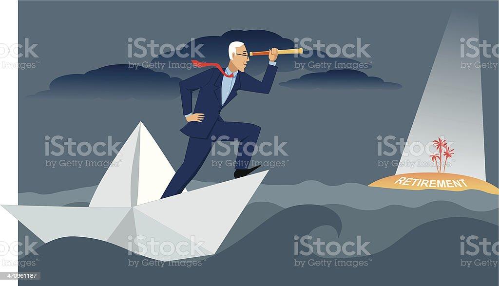 Retirement goals royalty-free stock vector art