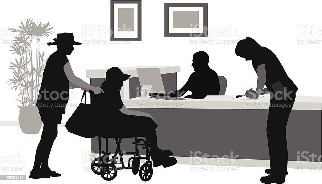 Retirement Home Vector Silhouette vector art illustration