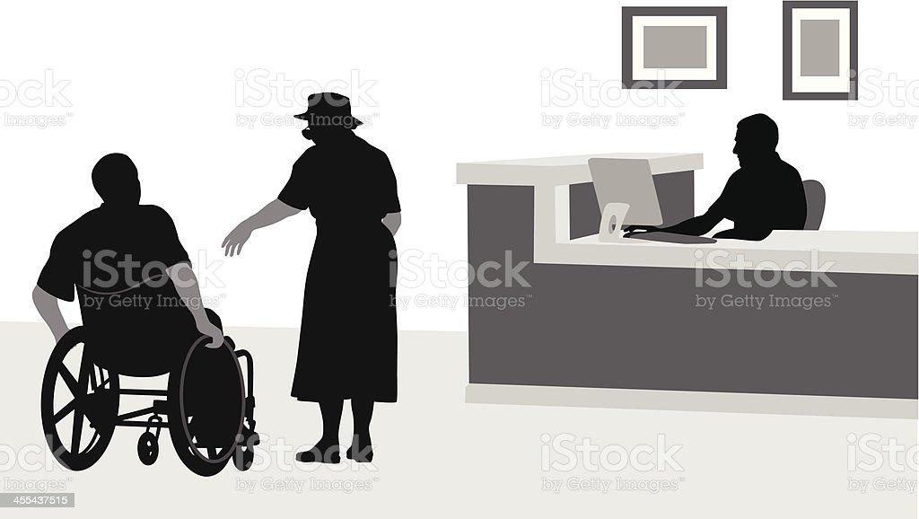Retirement Vector Silhouette vector art illustration