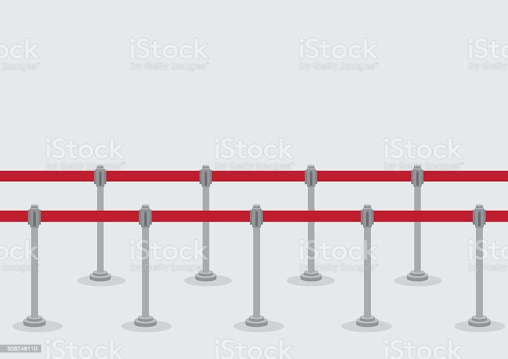 Retractable Belt Queue Stanchions Vector Illustration vector art illustration