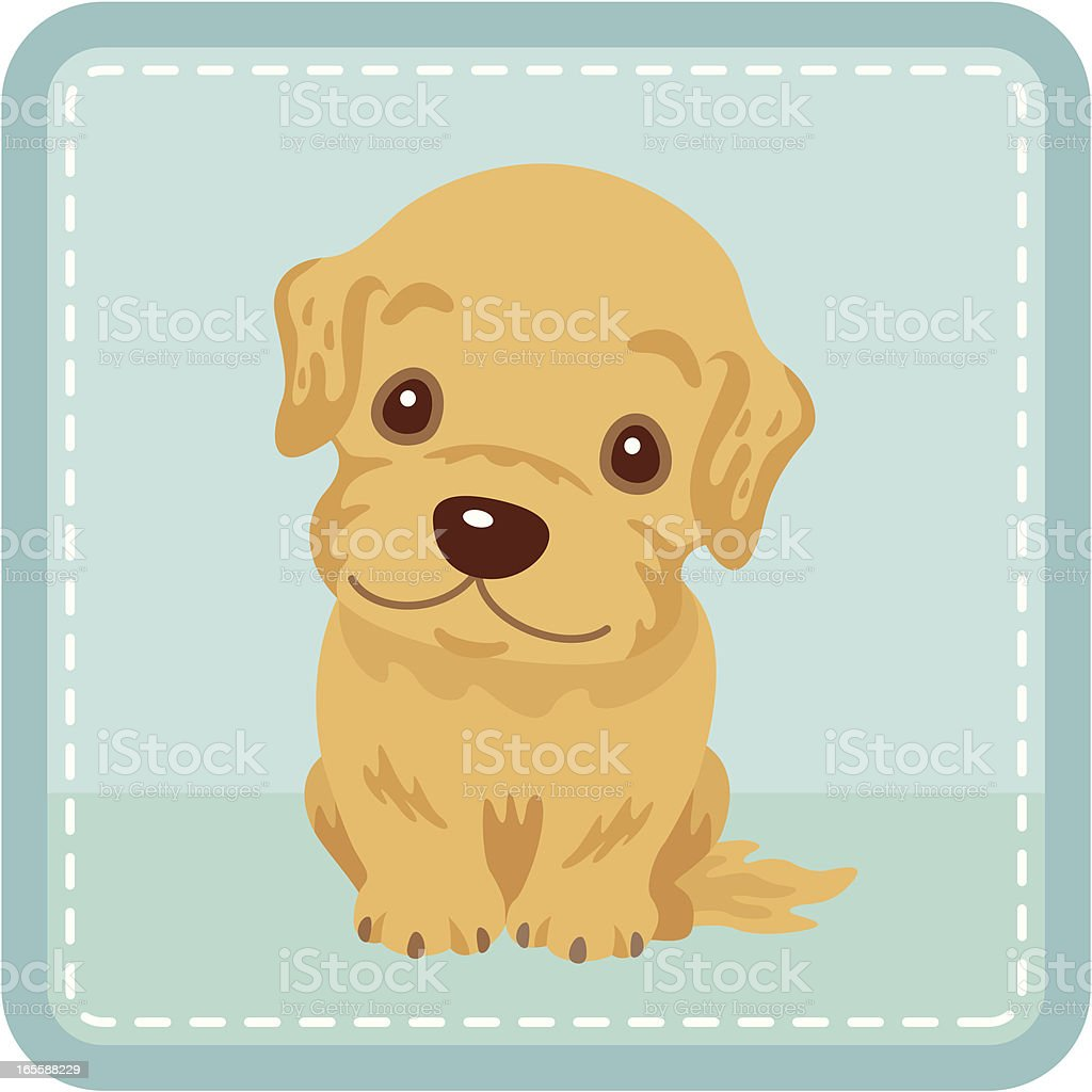 Retriever01 royalty-free stock vector art