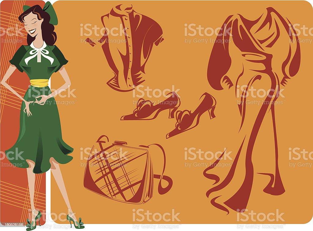 Retro 1940s royalty-free stock vector art