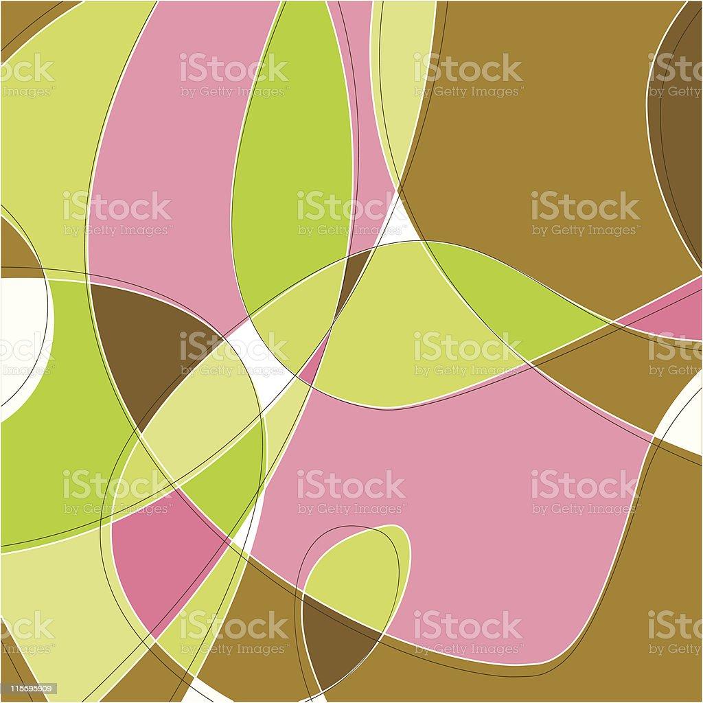 Retro Abstract Background vector art illustration
