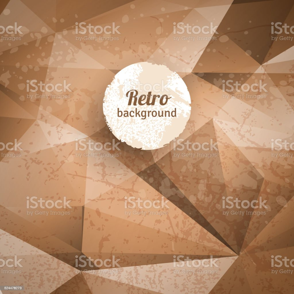 Retro abstract background. vector art illustration
