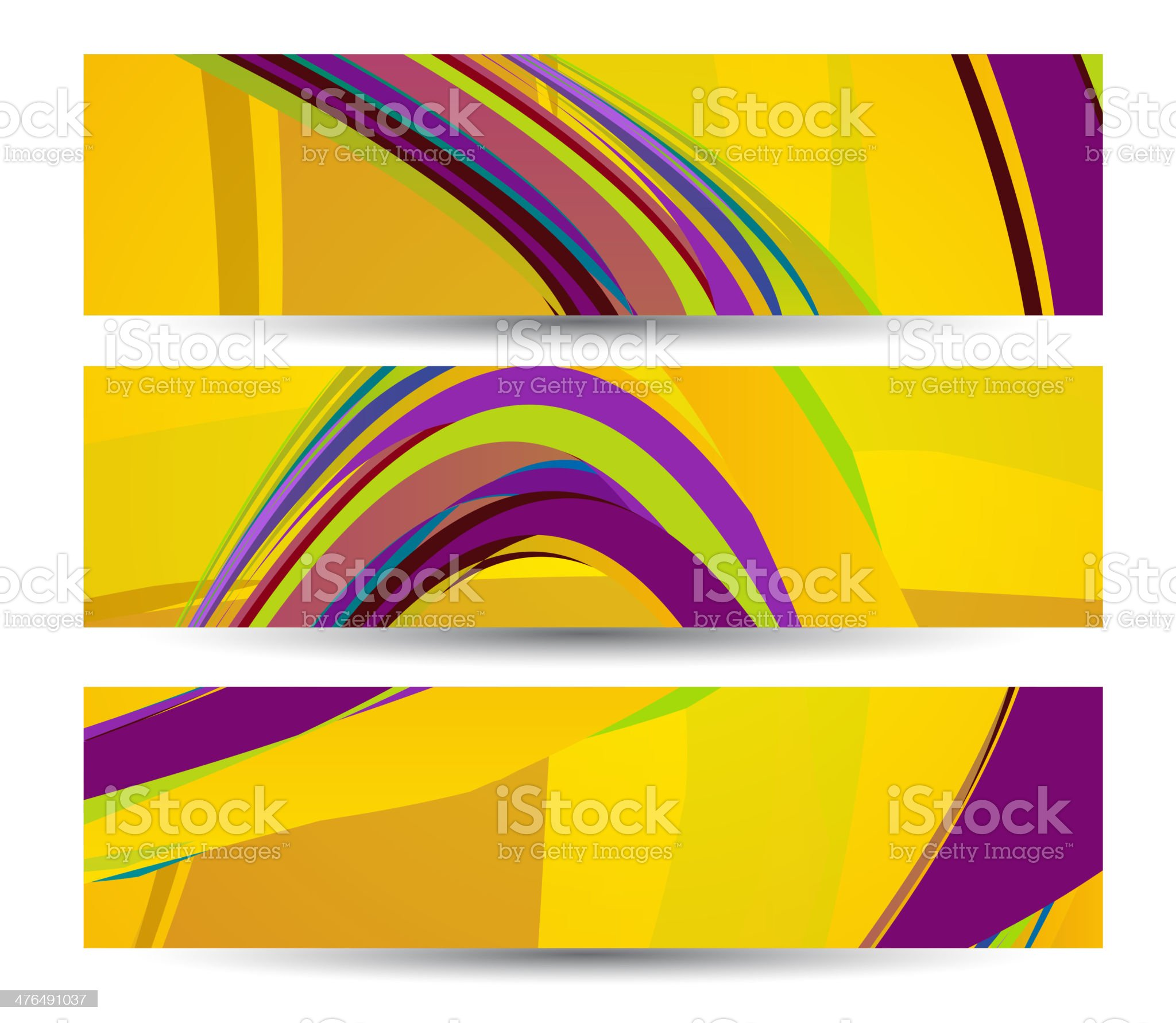 Retro abstract banner for your design royalty-free stock vector art