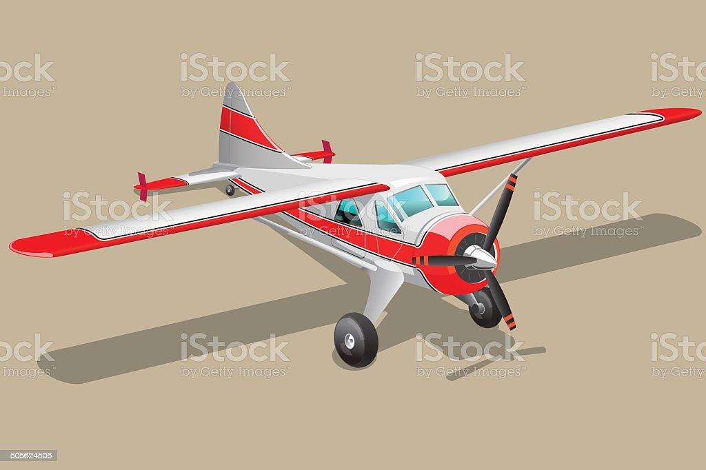 Retro airplane illustration vector art illustration