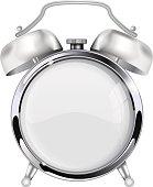 Retro alarm clock with blank clock face
