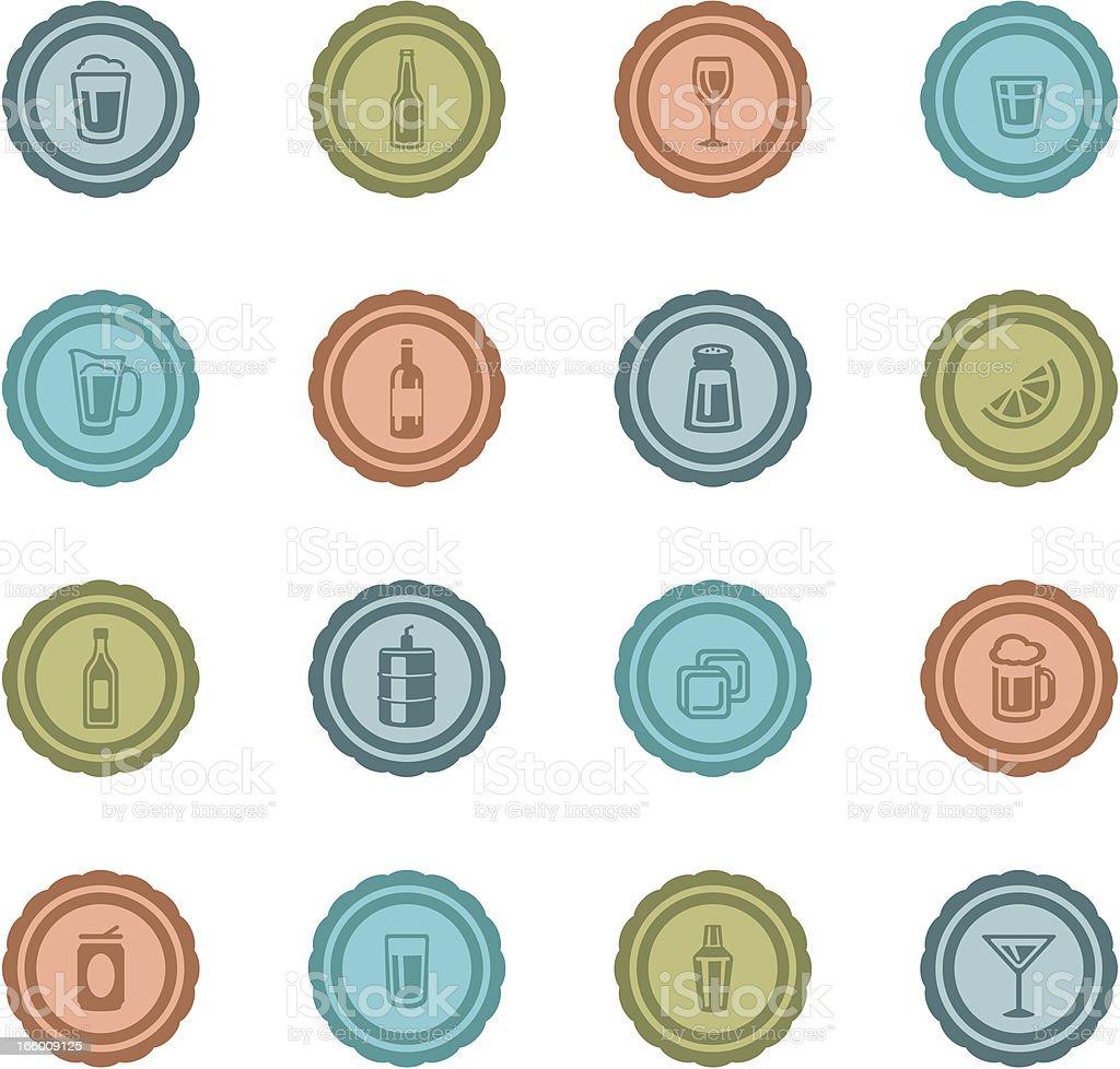 Retro Alcohol Badges royalty-free stock vector art