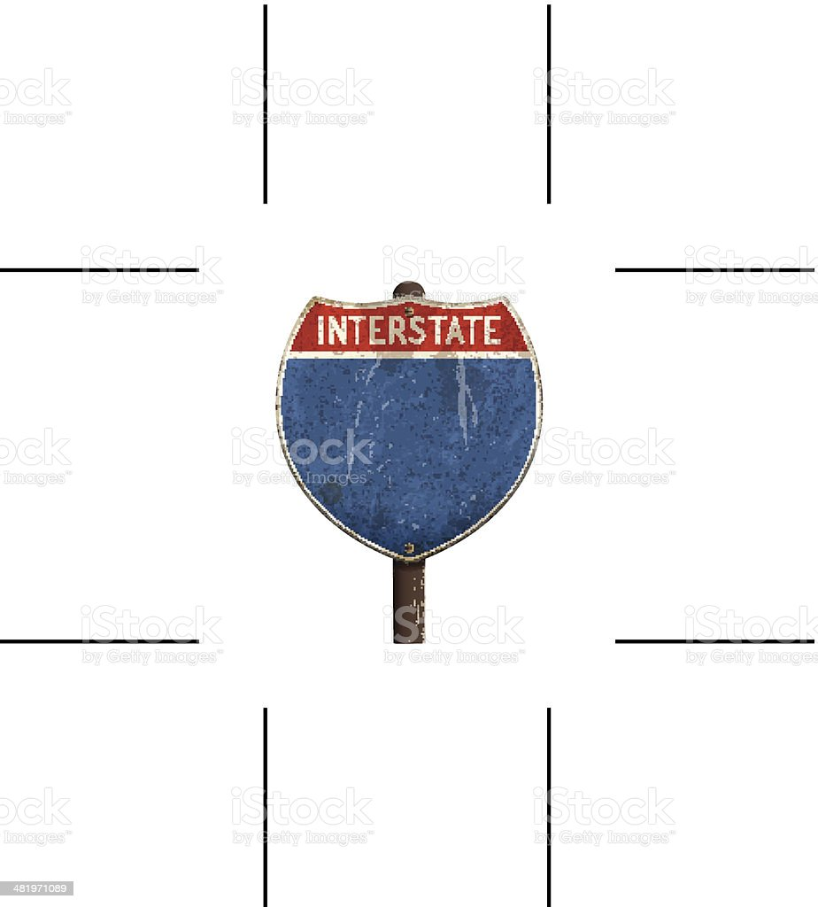 retro American interstate road sign royalty-free stock vector art