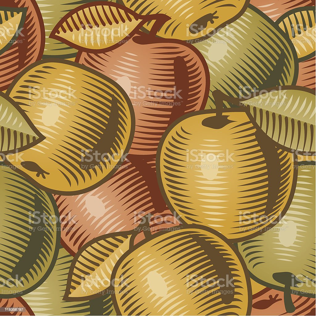 Retro apple background vector art illustration