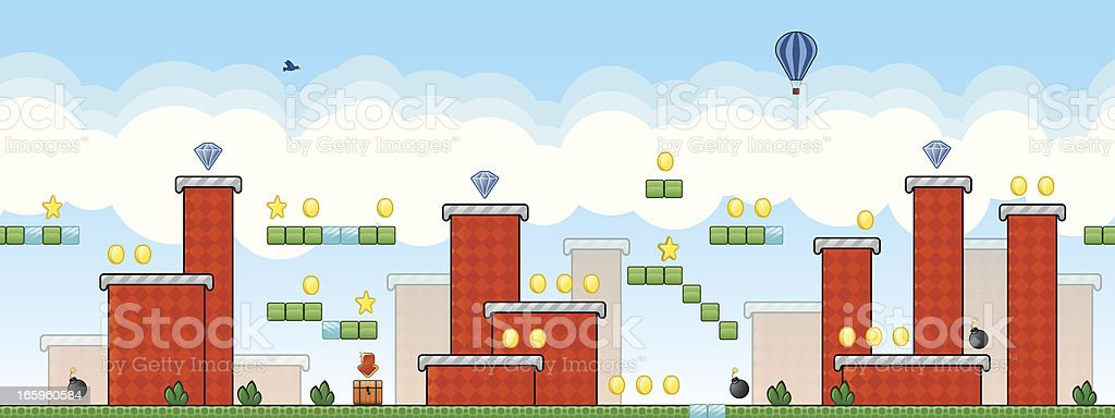Retro arcade game illustration royalty-free stock vector art