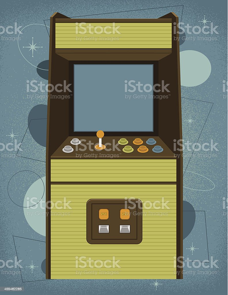 Retro Arcade Machine vector art illustration
