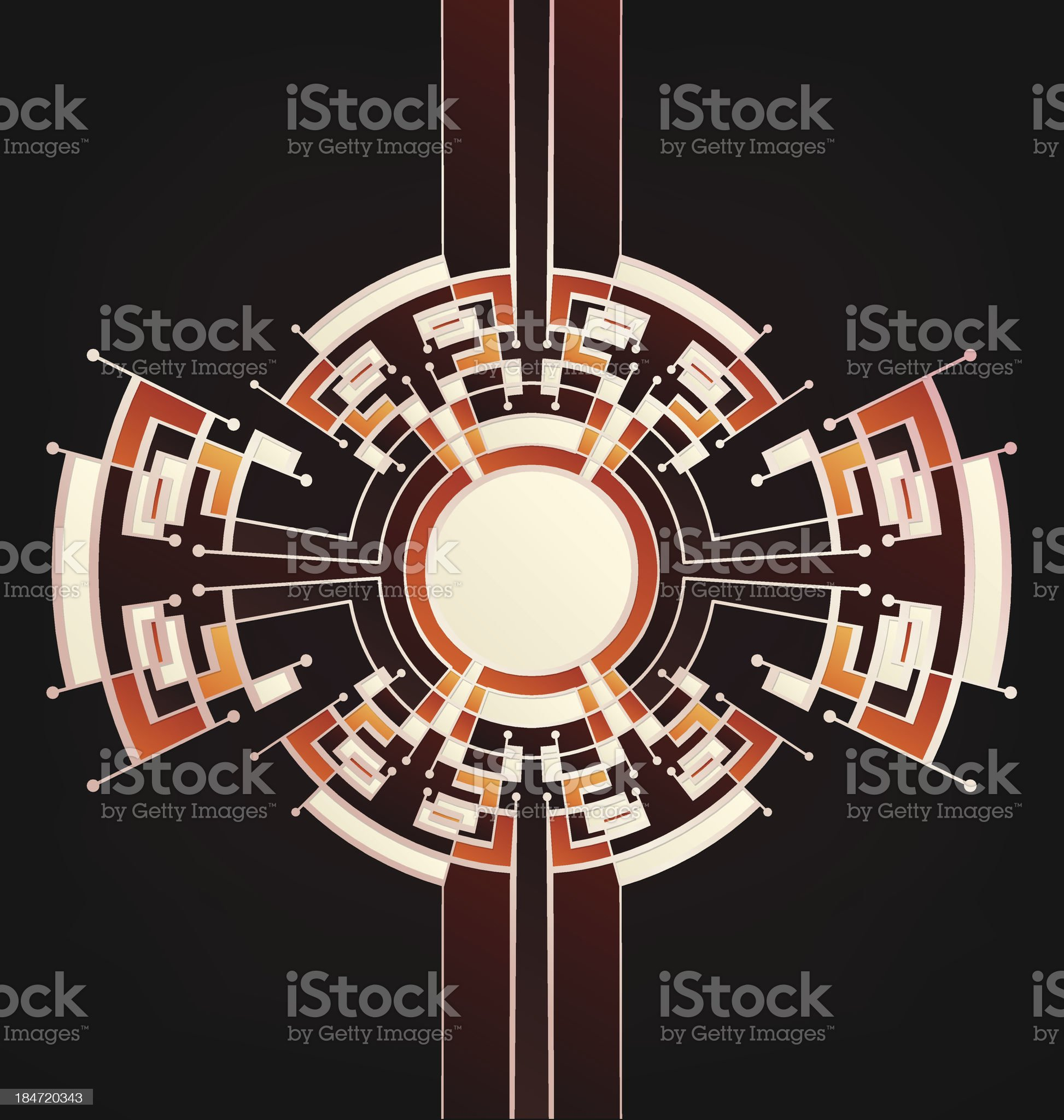 Retro Art Deco stylized background royalty-free stock vector art