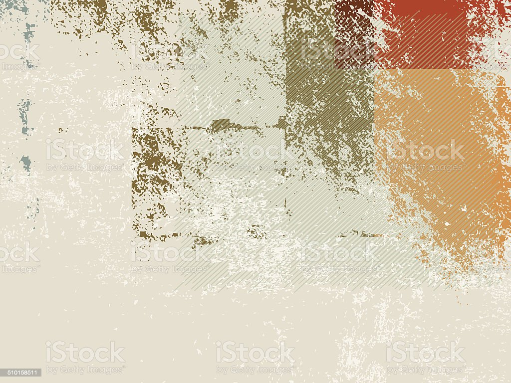 Retro background 70s vector art illustration