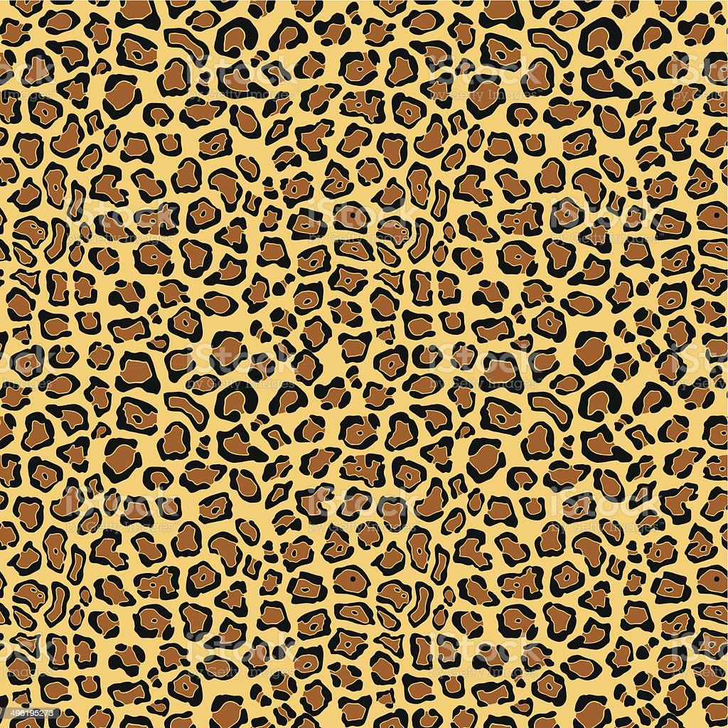 Retro background, leopard skin vector art illustration