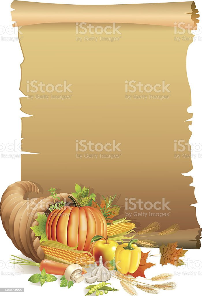Retro background Thanksgiving royalty-free stock vector art