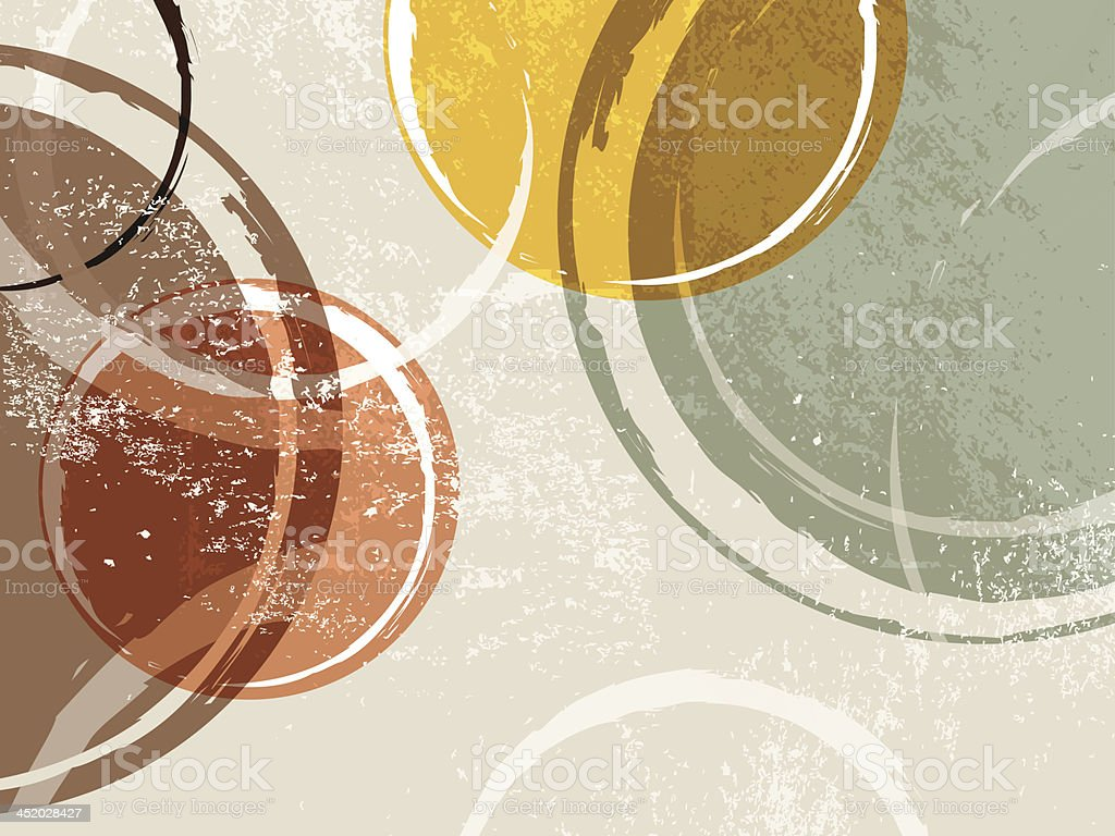 Retro background vector art illustration