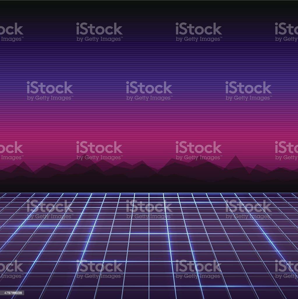 Retro Background vector art illustration