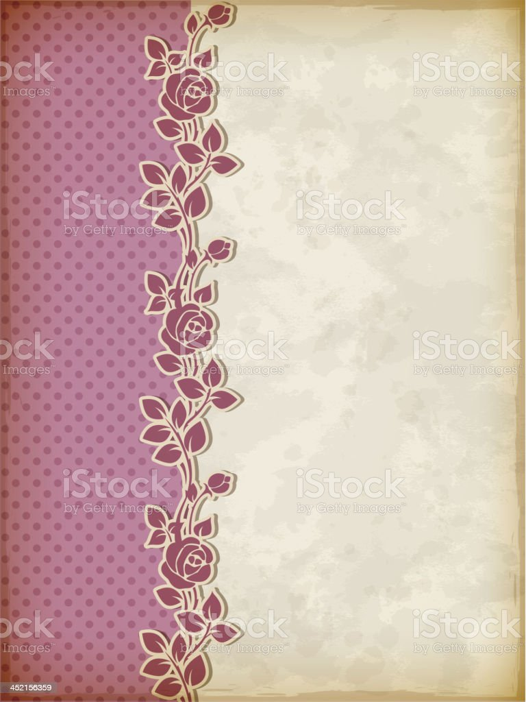 Retro background with roses royalty-free stock vector art
