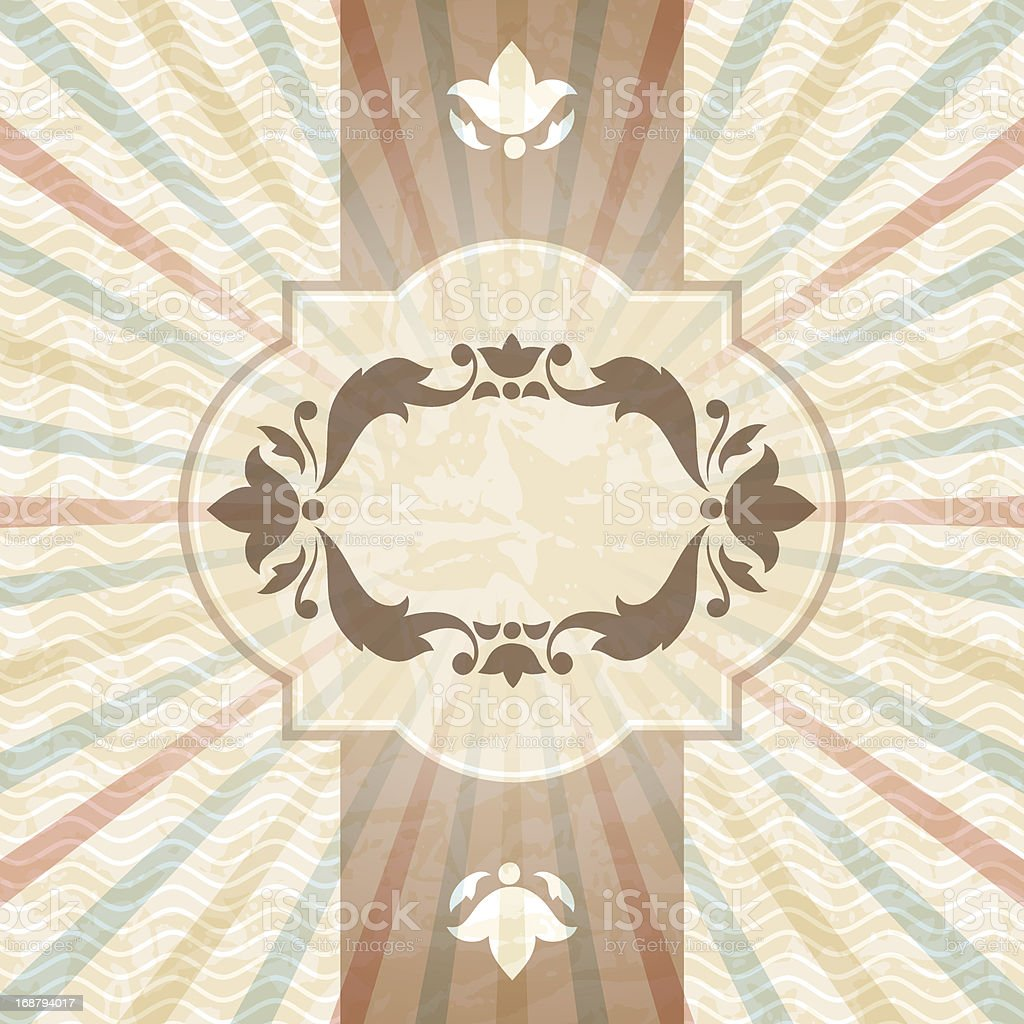Retro background with vintage floral ornate frame. royalty-free stock vector art