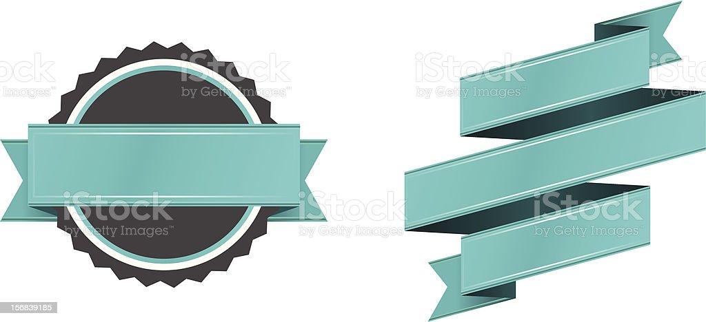 Retro Badge & Banner royalty-free stock vector art