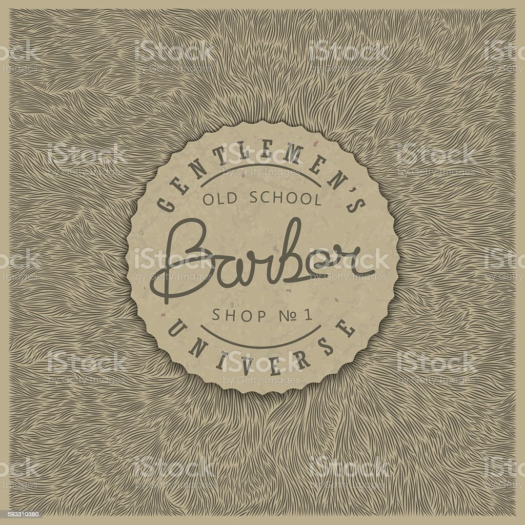 Retro badge for Barber Shop vector art illustration