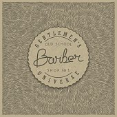 Retro badge for Barber Shop