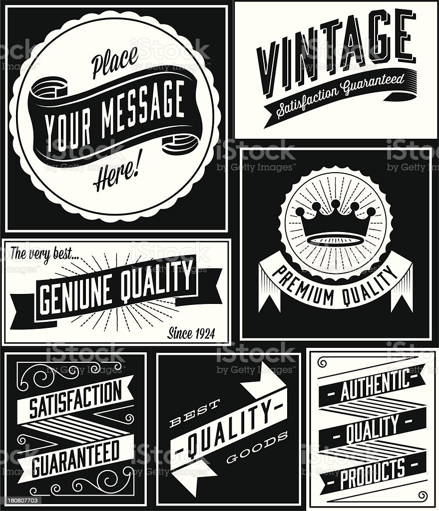 Retro Banner Designs vector art illustration