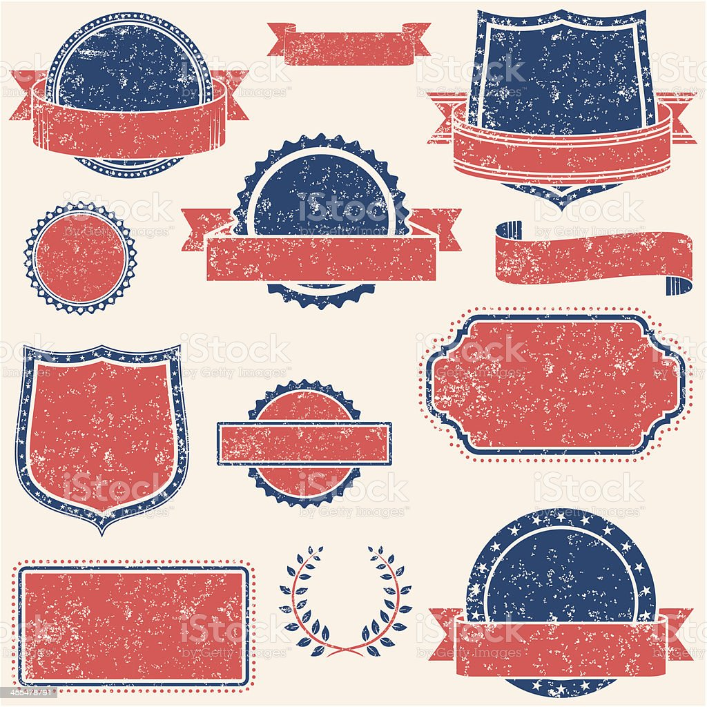 Retro Banners & Labels royalty-free stock vector art
