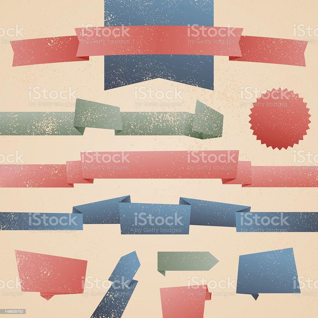 Retro Banners royalty-free stock vector art