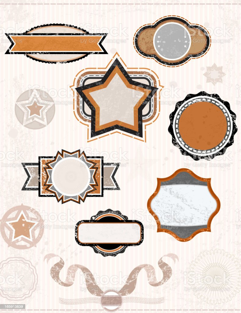 Retro Banners royalty-free stock vector art