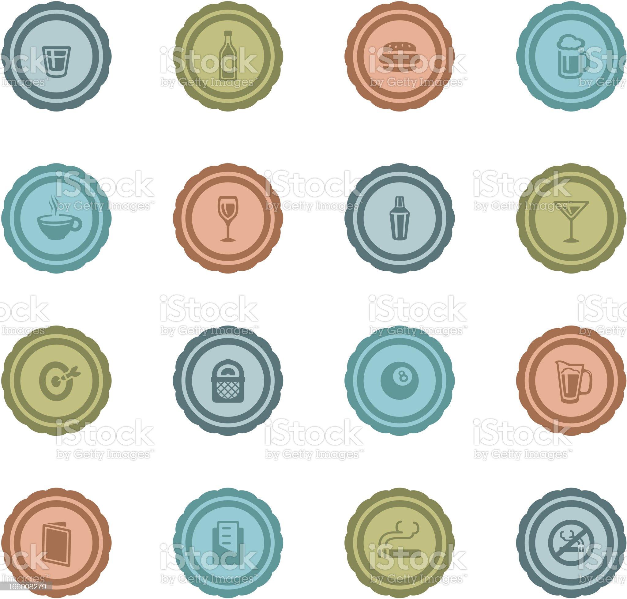 Retro Bar Badges royalty-free stock vector art