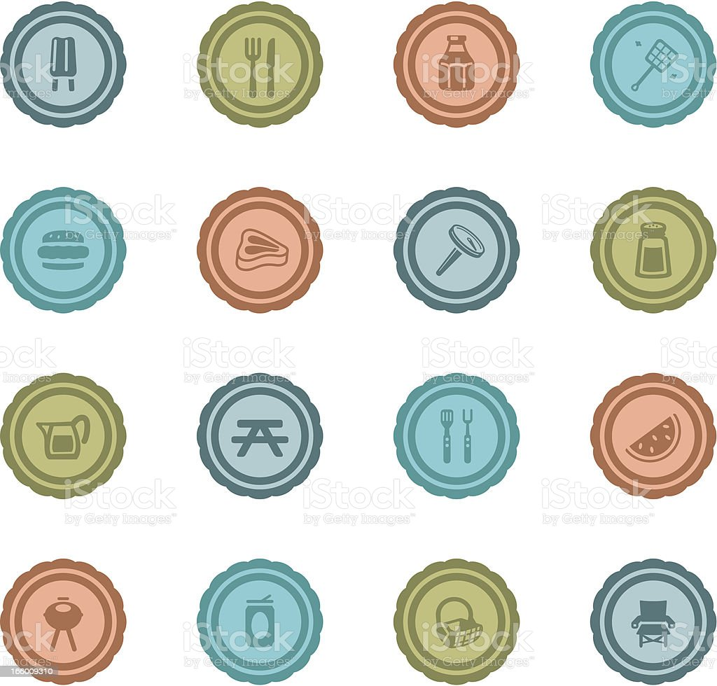 Retro Barbeque Badges royalty-free stock vector art